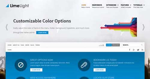 Lime Light - Responsive Business Joomla Templates