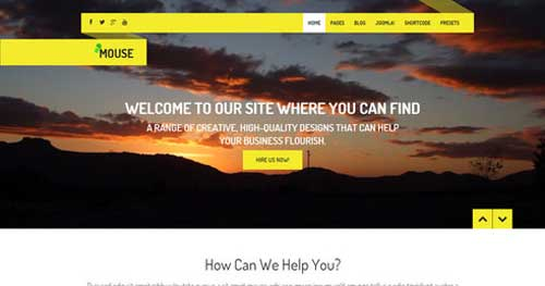MOUSE - Responsive Business Joomla Templates
