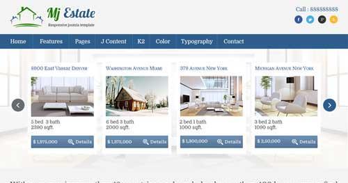 Mj Estate - Real Estate Joomla Templates