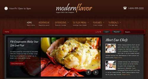 Modern Flavor - Restaurant Joomla Templates
