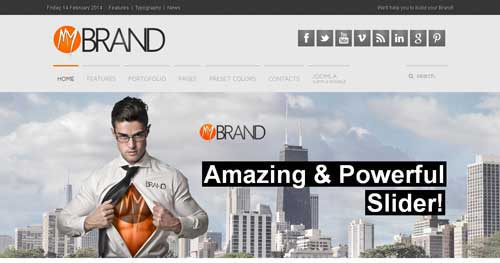 MyBrand - Responsive Business Joomla Templates