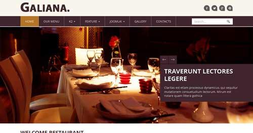 Noo Galiana - Restaurant Joomla Templates