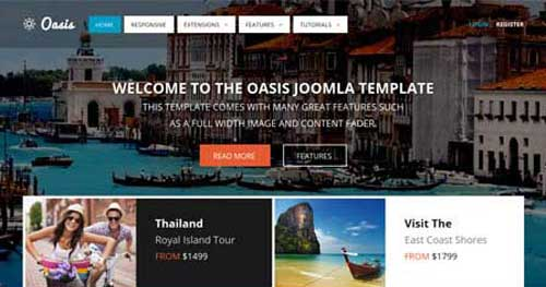 Oasis - Hotel & Travel Joomla Templates