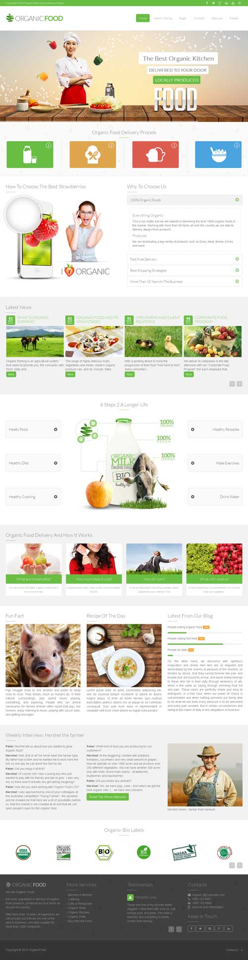 Organic Food Joomla Theme