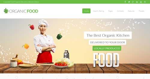 Organic Food - Restaurant Joomla Templates