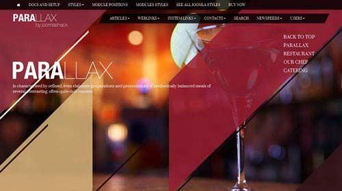 Parallax - Restaurant Joomla Templates