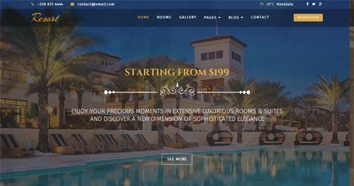Resort Joomla Theme