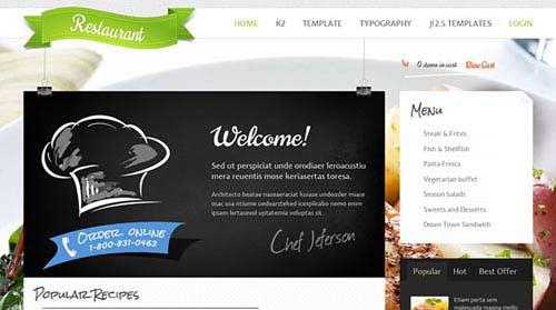 GavickPro Restaurant - Restaurant Joomla Templates