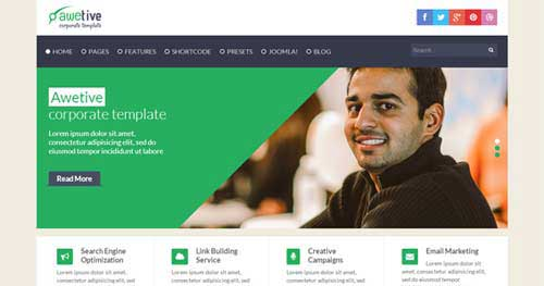 Shaper Awetive - Responsive Business Joomla Templates