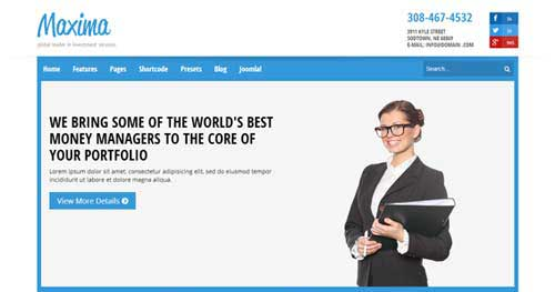 Shaper Maxima - Responsive Business Joomla Templates