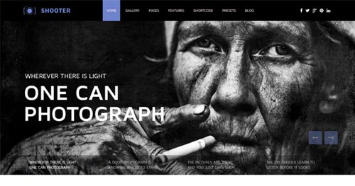 Shaper Shooter Photography Joomla Templates