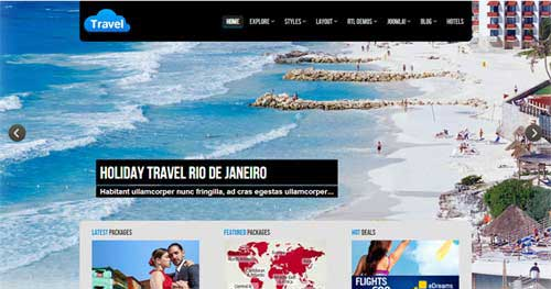 25 best hotel travel joomla templates 2018 jooexplorer for Joomla hotel template