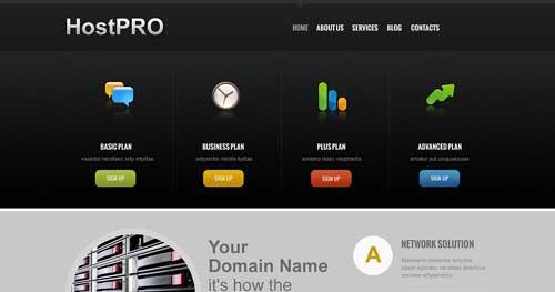 TM HostPro - Web Hosting Joomla Templates