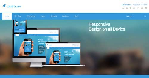 Venus - Responsive Business Joomla Templates