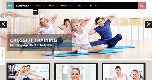 Bodyworx - Fitness Joomla Templates