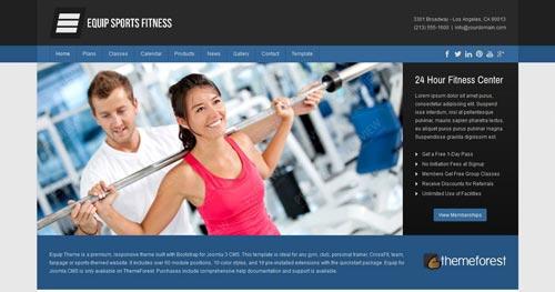 Equip - Fitness Joomla Templates