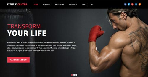 Fitness Center Joomla Theme