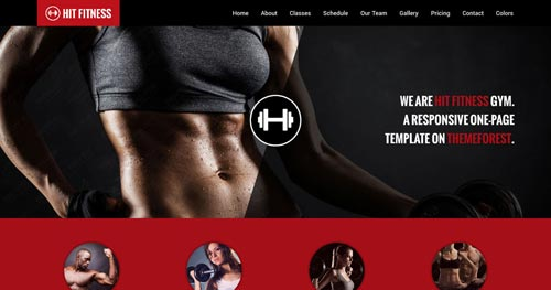 Hit Fitness Joomla Template