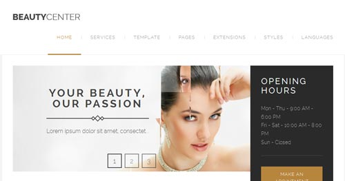 JM Beauty Center Joomla Theme