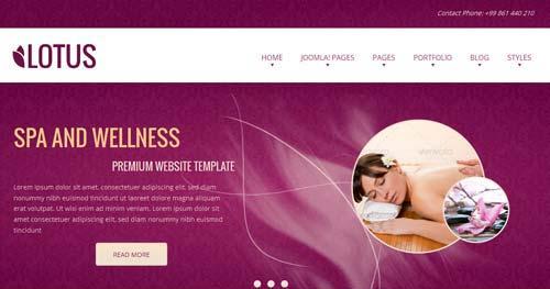 Lotus - Spa & Salon Joomla Templates