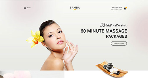 Samba Spa Joomla Theme