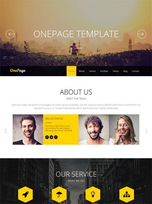 Shaper OnePage Joomla Theme