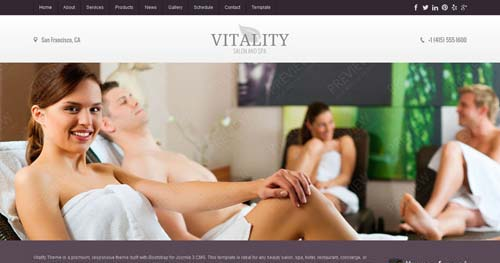 Vitality - Spa & Salon Joomla Templates