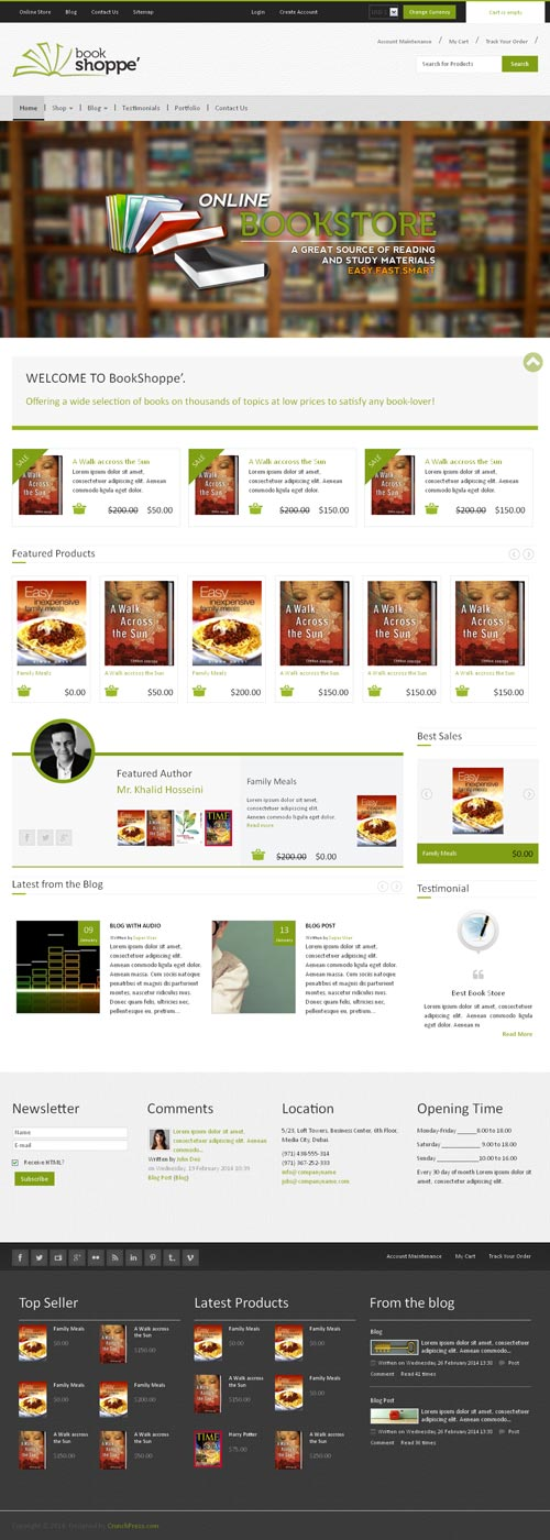 BookStore Joomla Theme