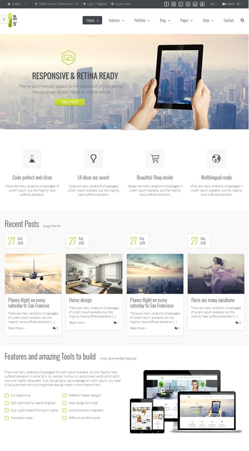 All In One Joomla Template