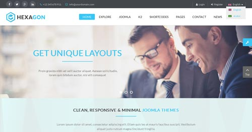 Hexagon Joomla Template