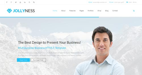 Jollyness Joomla Theme