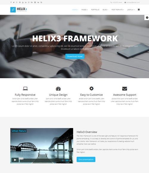 Helix3 Joomla Template