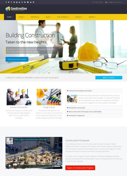 Construction Joomla Template