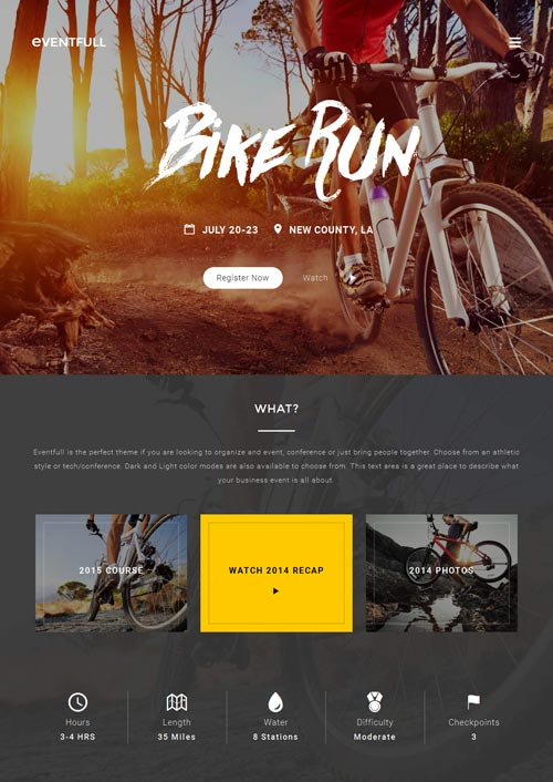Eventfull Joomla Template