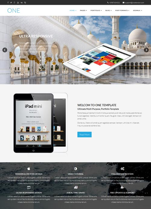 One Joomla Template