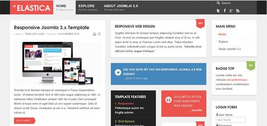 JA Elastica Joomla Template