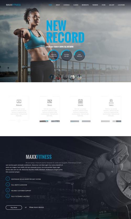 Maxx Fitness Joomla Template