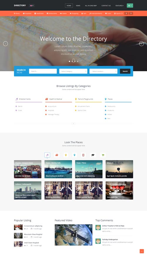 Ja directory business joomla theme free download ja directory joomla template cheaphphosting Image collections