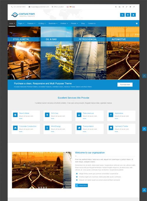 Conviction Joomla Template