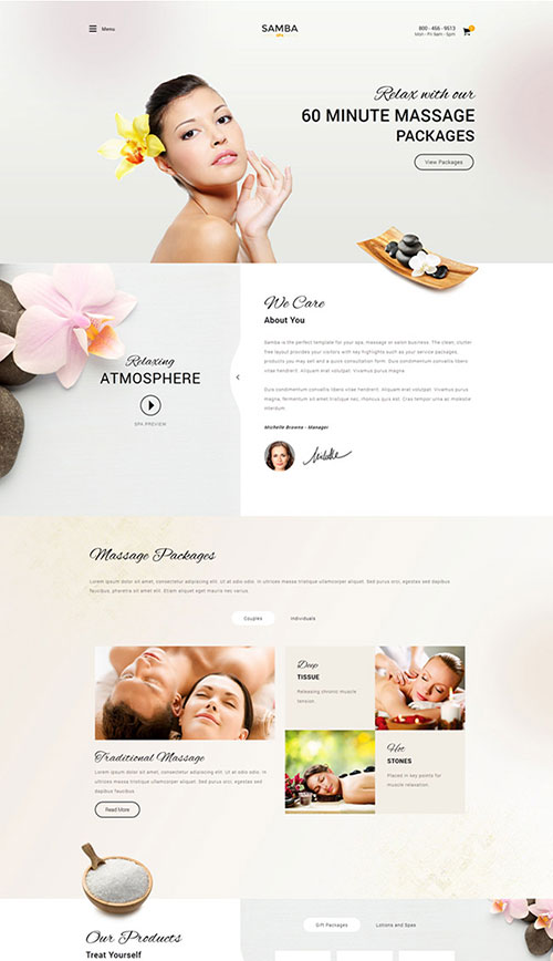 Samba Spa Joomla Template