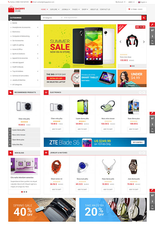 ShoppyStore Joomla Template