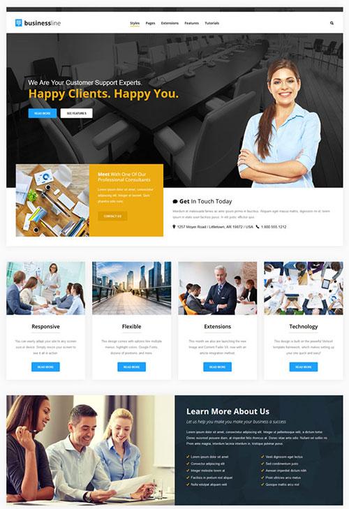 Business Line Joomla Template