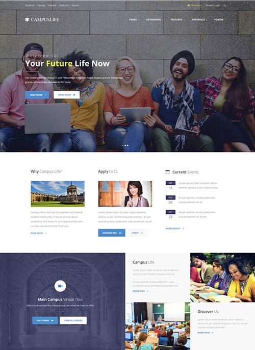 Campus Life Joomla Template