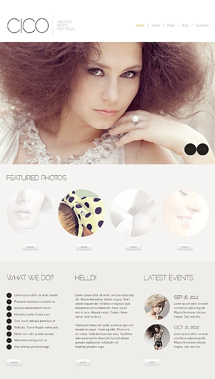 White Photographer Portfolio Joomla Template