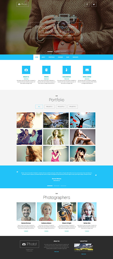 Professional Photography Joomla Template