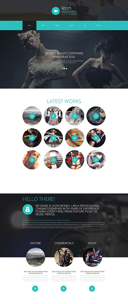 Photographer Joomla Theme