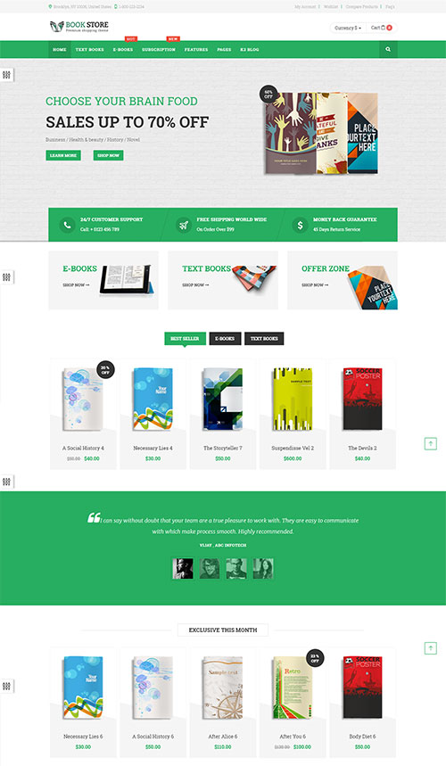bookstore - ecommerce joomla theme | free download, Powerpoint templates