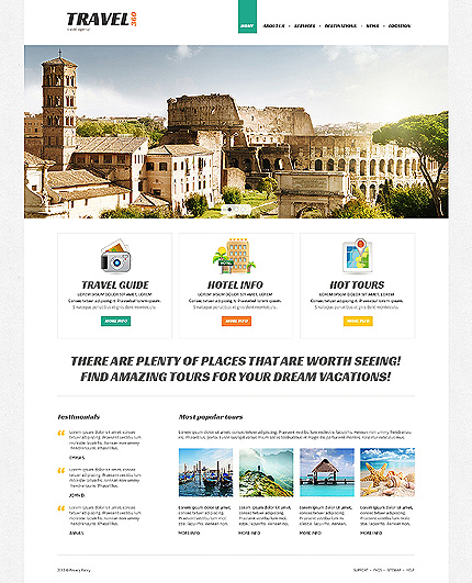 Proper Travel Joomla Template