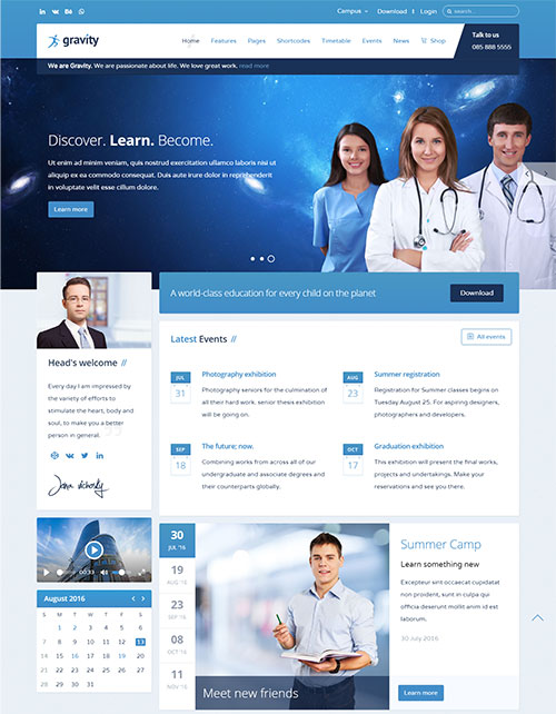 Gravity education joomla theme free download gravity joomla template maxwellsz