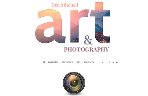 Professional Photographer Joomla Template